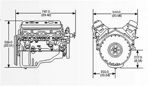 Engine dimensions for Gm engine sizes