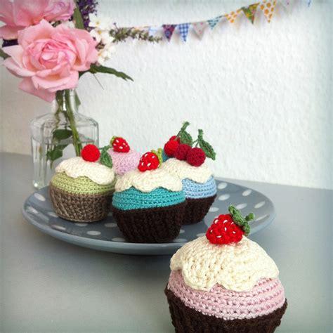 cuisine cupcake crochet cupcake on crochet food play food and