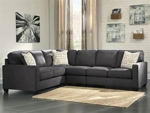 ashley signature design alenya charcoal 3 piece With alenya sectional sofa dimensions