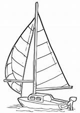 Sailboat Coloring Pages Sailboat2 sketch template