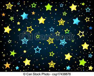 Cartoon star colored background Cartoon kid style vector