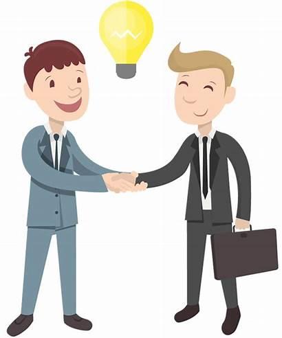 Partners Employer Relationship Orang Handshake Clipart Businessman