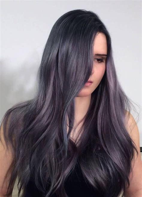 silverpurpleblue lavender hues cut  dyed hair