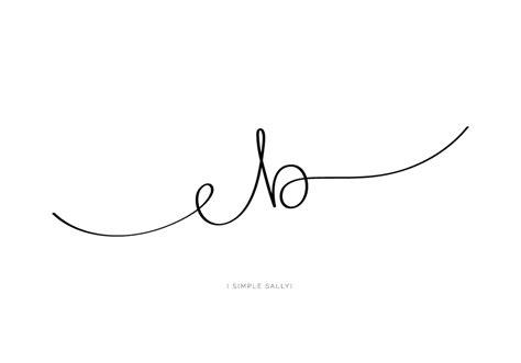 handwritten initials eb  elodie simple sally