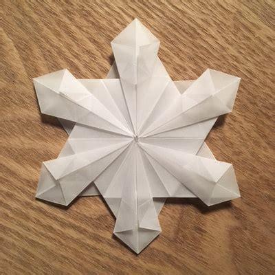 snow origami snowflakes artful maths