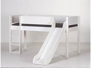 Hochbett Rutsche Weiß : manis h hochbett buche wei mit rutsche spielbett inkl lattenrost ~ Whattoseeinmadrid.com Haus und Dekorationen