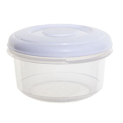 Buy 500ml Round Plastic Food Box With Lid