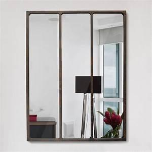 Miroir Effet Verrière : miroir effet verri re style industriel 90x120 l on by drawer ~ Teatrodelosmanantiales.com Idées de Décoration