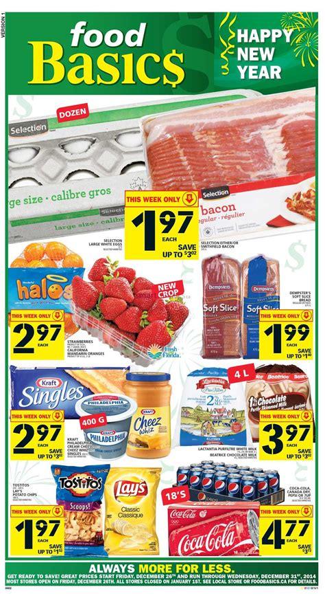 basics of cuisine food basics flyer december 26 to 31