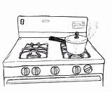 Stove Drawing Gas Drawings Paintingvalley Behance Had sketch template
