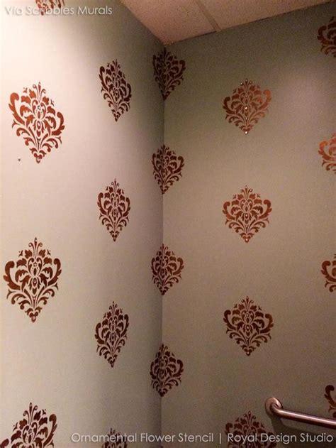 wall stencil ornamental flower wall stencil royal