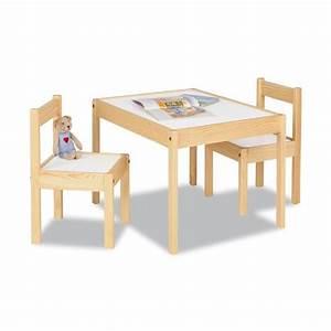 Table Enfant Bois : table et chaises en bois pinolino ~ Teatrodelosmanantiales.com Idées de Décoration