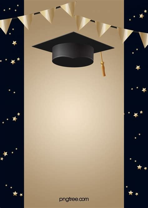 black  golden happy graduation hat background