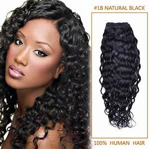 30 Inch 1b Natural Black Curly Indian Remy Hair Wefts