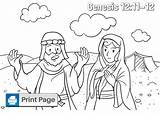 Abraham Sarah Coloring Pages Sheet Genesis Wife Egypt Sarai Niv He sketch template