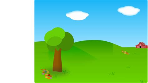 landscape barn clip art  clkercom vector clip art