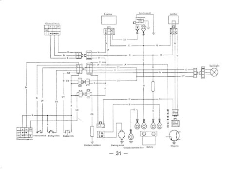 collection of wiring diagram for 110cc 4 wheeler sle