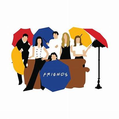 Friends Umbrella Quotes Friend Fan Clipart Cartoon