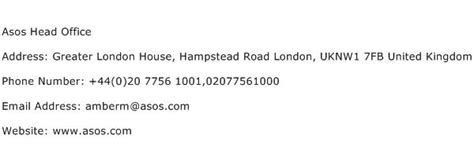 asos head office address contact number  asos head office