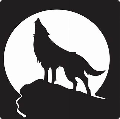Wolf Howling Clip Clker Clipart Vector Template