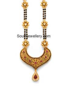 pachi earrings black mangalsutra with gold pendant jewelry
