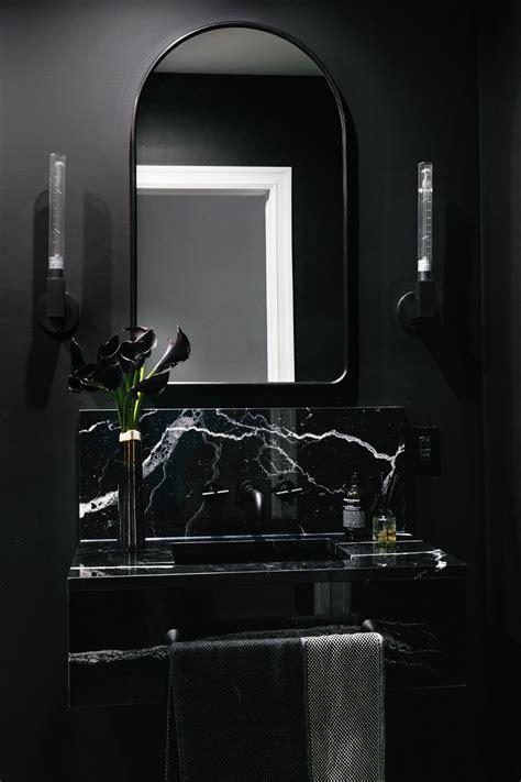 black bathroom paint trends     lick
