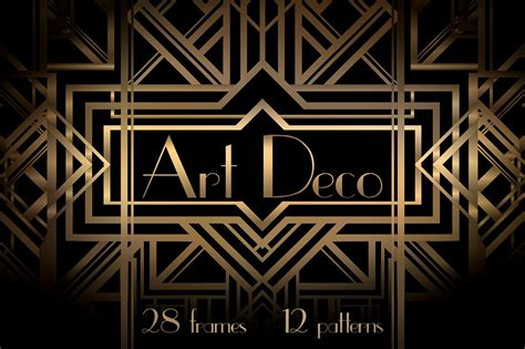 art deco frames  patterns graphic patterns creative