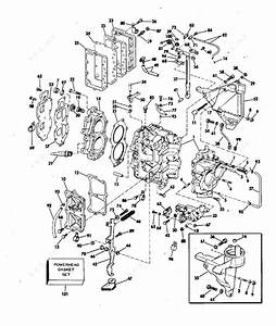 evinrude 1978 25 25852c cylinder crankcase parts With diagram of 1978 dt2c suzuki marine outboard starter diagram and parts