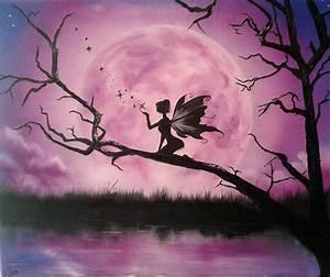 Moonlight Fairy Painting by Ira Florou