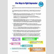 Five Ways To Fight Depression Worksheet  Free Esl Printable Worksheets Made By Teachers