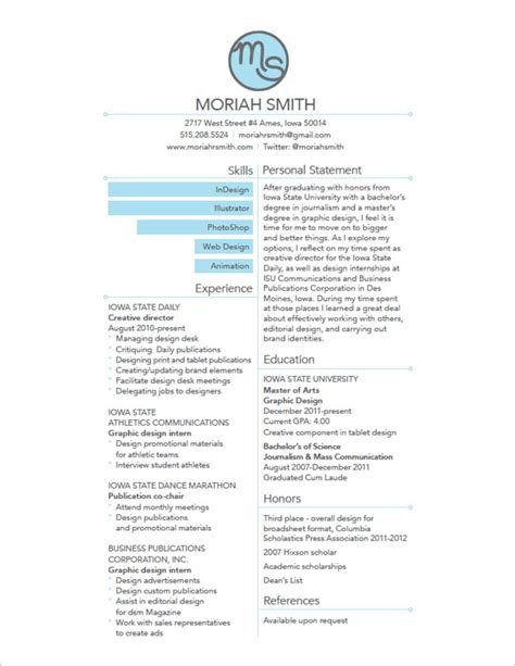 Simple Unique Resumes by 10 Interesting Simple Resume Exles You Would To Notice