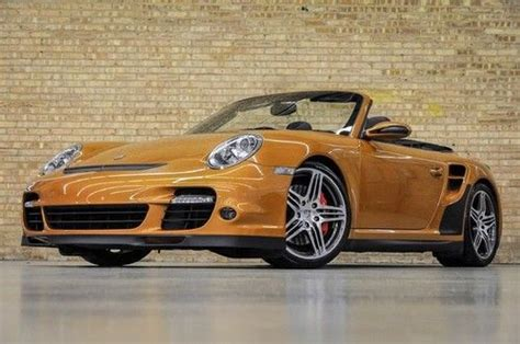 gold porsche convertible purchase used 2009 porsche 911 turbo cabriolet certified