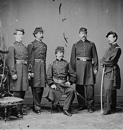 Union General Civil War Portrait During Staff