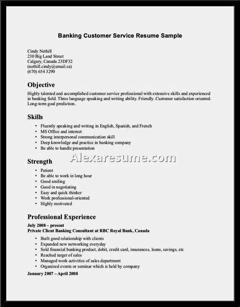 Customer Service Skills On Resume by Exles Of Resume Skills Customer Service Professional