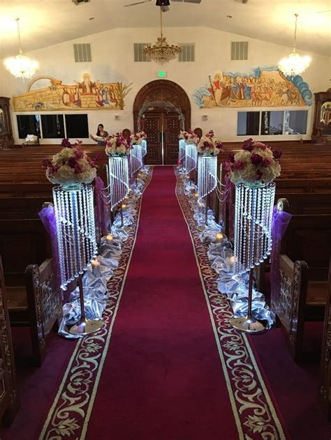 luxury crystal wedding flower stand walkway wedding
