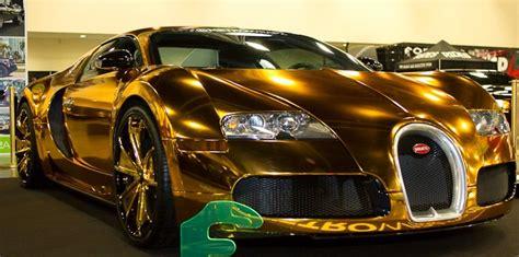 Golden Bugatti Veyron by Bugatti Veyron Gold Wrapped For Us Rapper Flo Rida