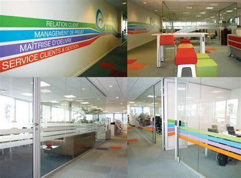 signaletique bureau une signalétique créative pour 165m2 de bureau design et