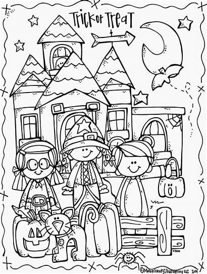 Halloween Happy Coloring October Melonheadz Activities Freebie