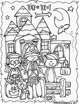 Halloween Coloring Happy Melonheadz October Cute Activities Freebie Doris Lucy sketch template