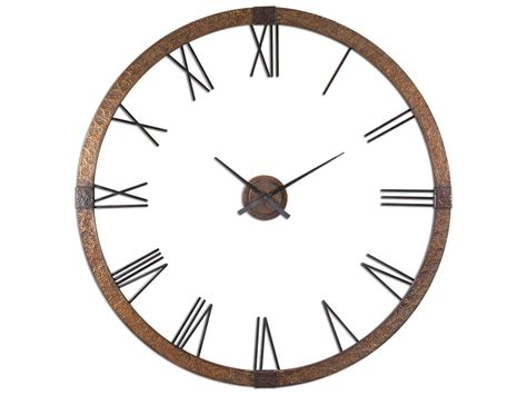 Uttermost Amarion 60 Inch Copper Wall Clock