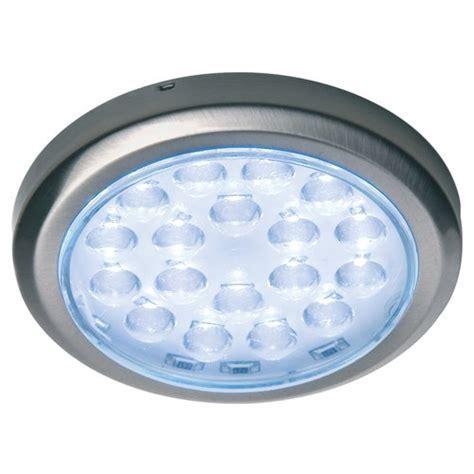 Hafele Luminoso 12V LED Surface Mount Spot Brushed Steel