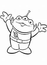 Toy Story Coloring Pages Alien Toys sketch template