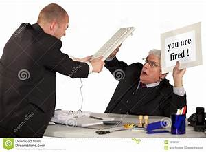 Fired Employee Attacking Senior Manager Stock Image