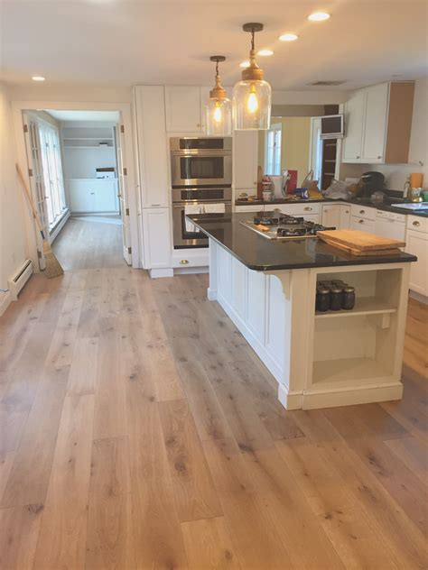 flooded kitchen floor choosing wide plank flooring for the kitchen mac 3782