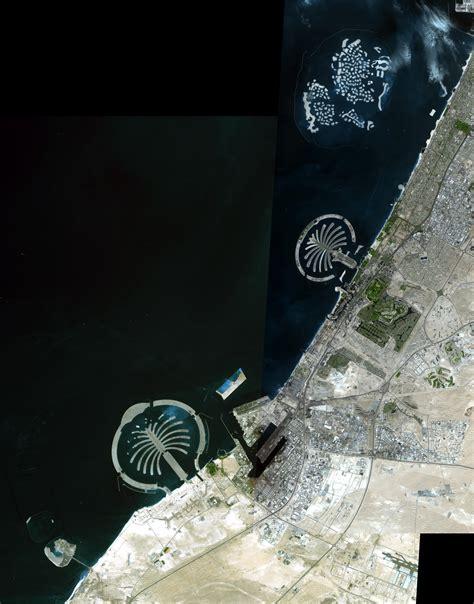 space images palm islands dubai uae