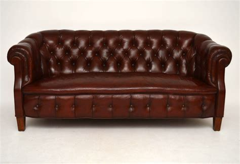 Chesterfield Sofa Antique by Antique Swedish Leather Chesterfield Sofa Marylebone