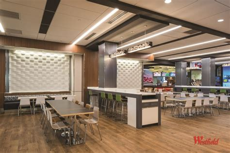 newark airport food court new york by porcelanosa