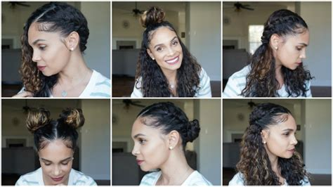 natural hair 6 easy curly hairstyles for spring youtube