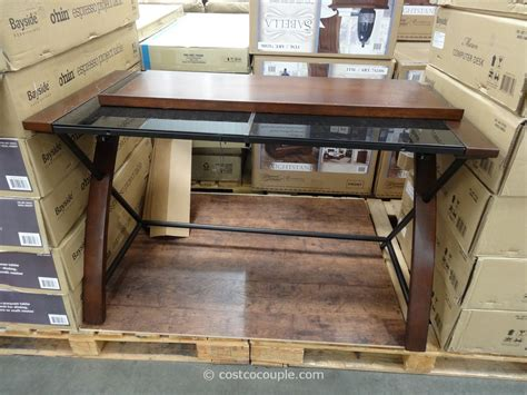 Bayside Computer Desk Nalu by Desk With Glass Top At Costco Hostgarcia