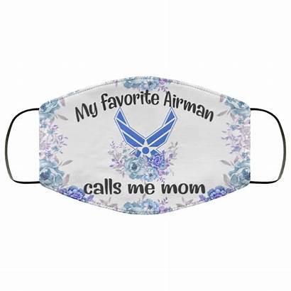 Favorite Mom Calls Airman Mask Face